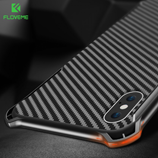 Floveme Shockproof Carbon Fiber Luxury Bumper iPhone Case